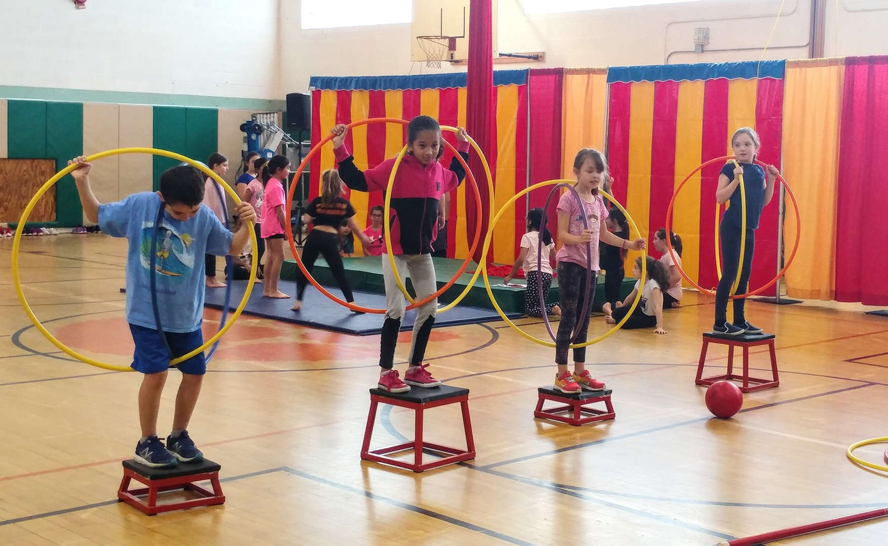 Cottle students learned new skills, gaining confidence and challenged their minds in new ways during the PTA sponsored Circus Week.