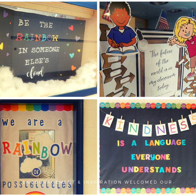 Encouragement and inspiration awaited our students on the first day of school.
