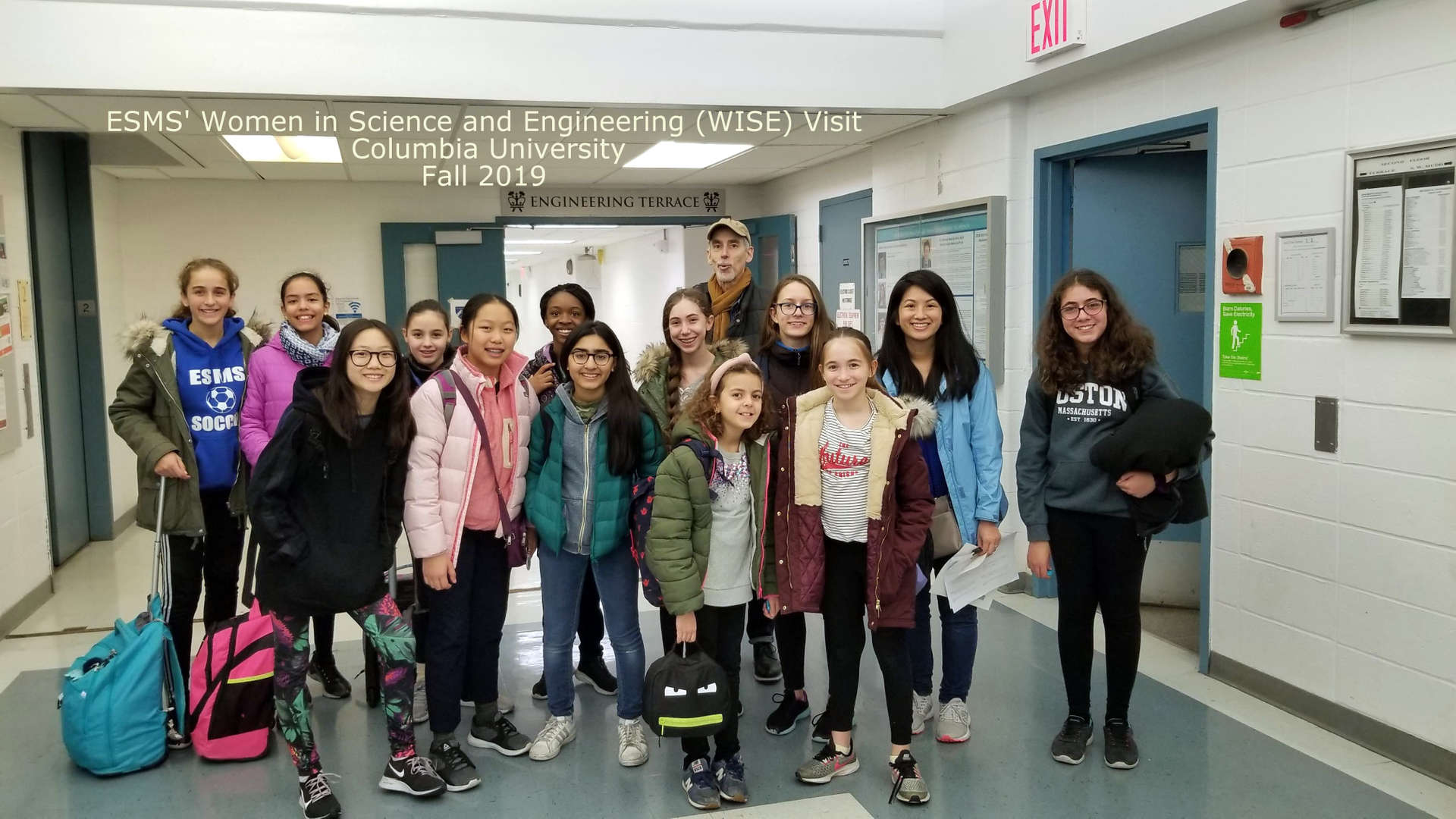 Photo of our Women in Science and Enginering Club visiting Columbia University in November 2019