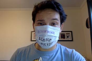 Photo of Mr. Forigua wearing a surgical mask