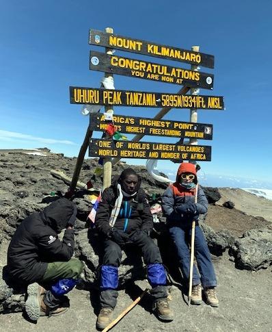 Photo of student on Mt. Kilimanjaro
