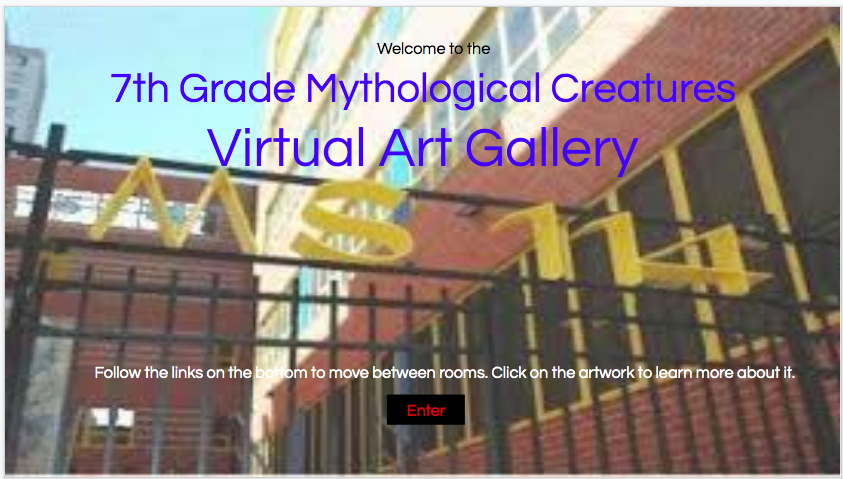 Logo for 7th Grade Virtual Art Gallery - Mythological Creatures
