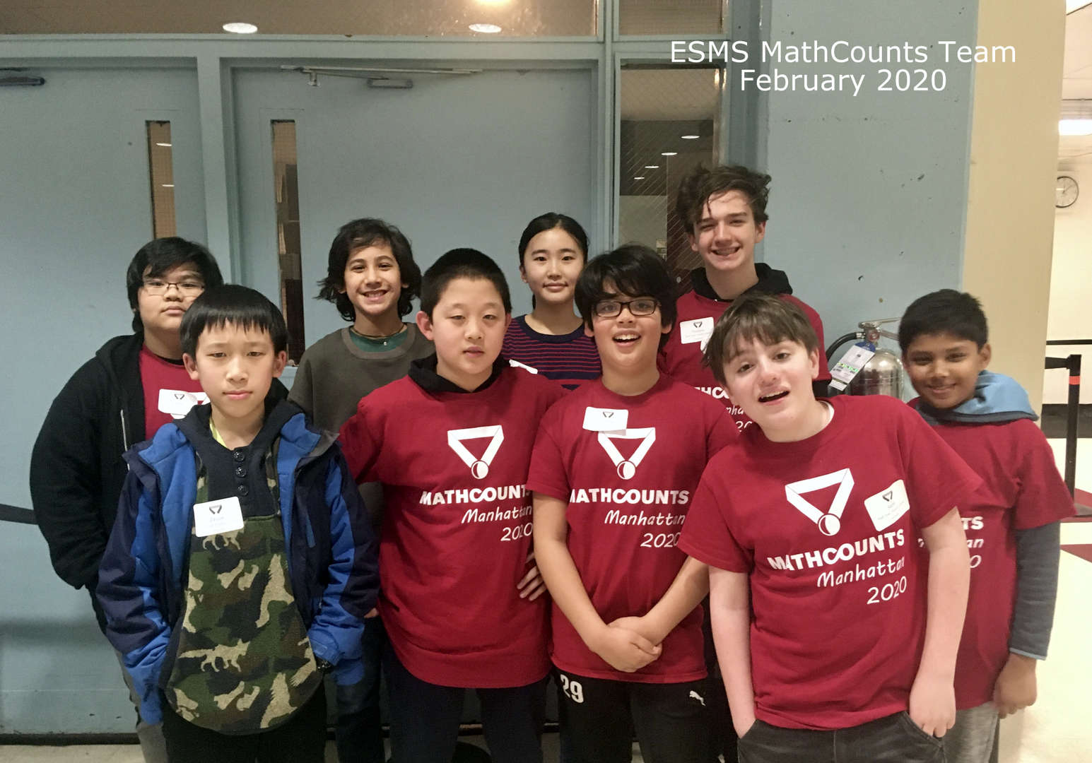 ESMS MathCounts Team 2020