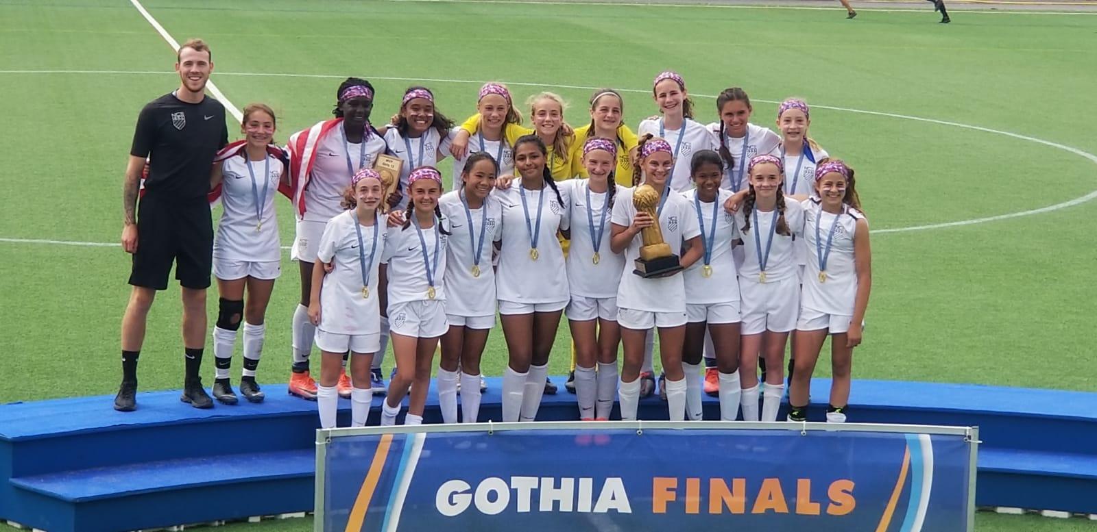 Team photo of Girls Gothia Soccer Finals
