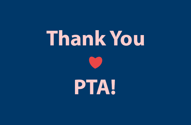 """Graphic that reads """"Thank You PTA"""" with a red heart"""