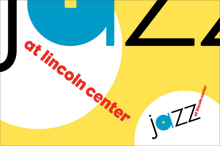 "A graphic that reads ""Jazz at Lincoln Center"".  Each year, Lincoln Center Jazz comes to ESMS to present a program called Democracy & Jazz"