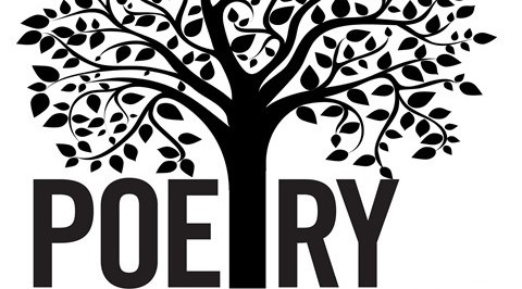 Graphic of a tree with branches with the word POETRY under it.