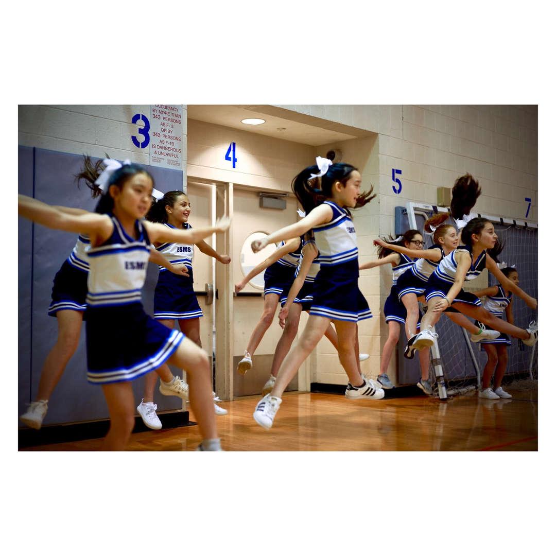 ESMS cheerleaders