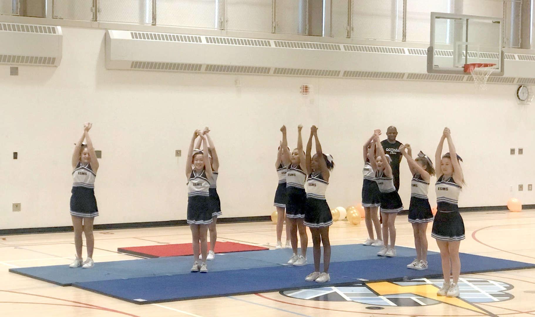 Photo of ESMS cheerleaders
