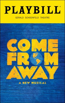 graphic of the Playbill magazine from the Broadway show, Come From Away.