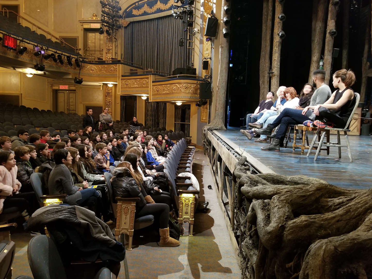 ESMS Student Q&A withe cast from Come From Away (2018)