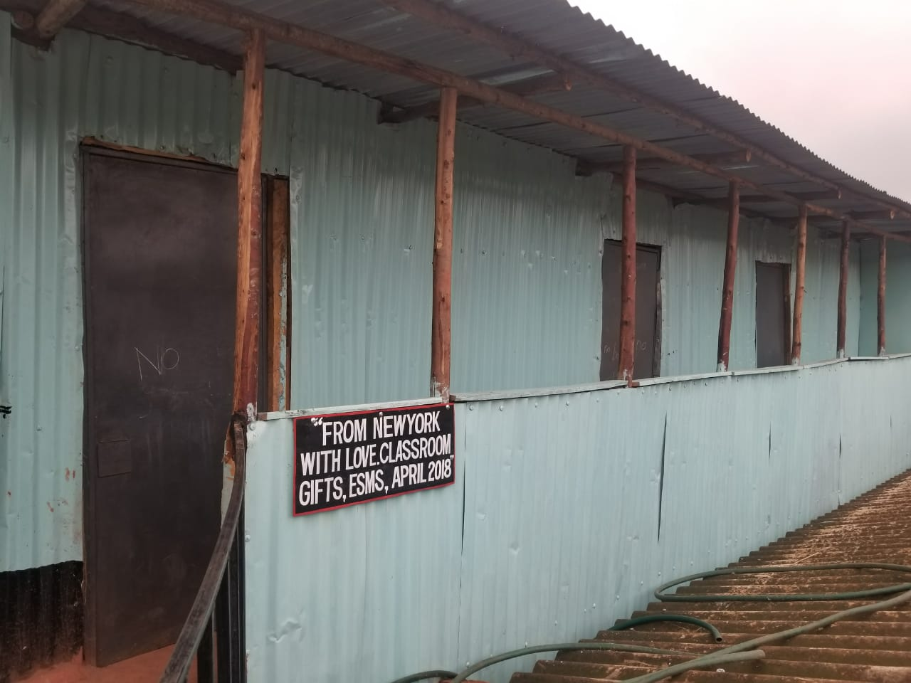 building on the grounds of the Red Rose school in Kibera, Kenya