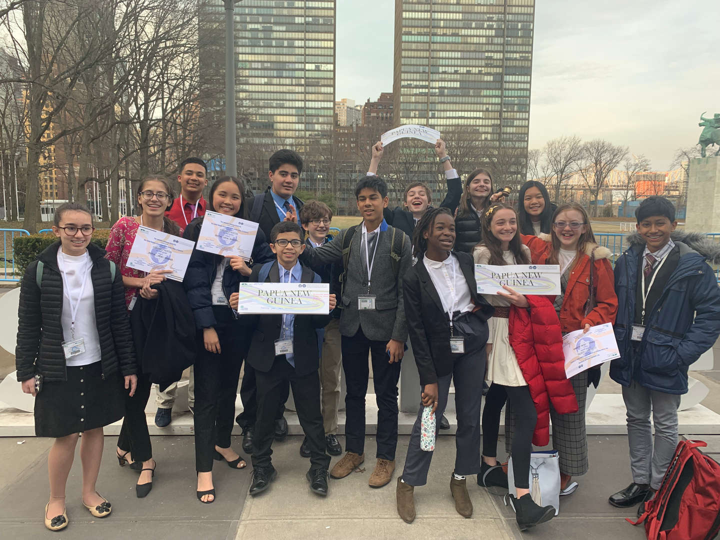 Photo of Model UN Club members - 2018-2019