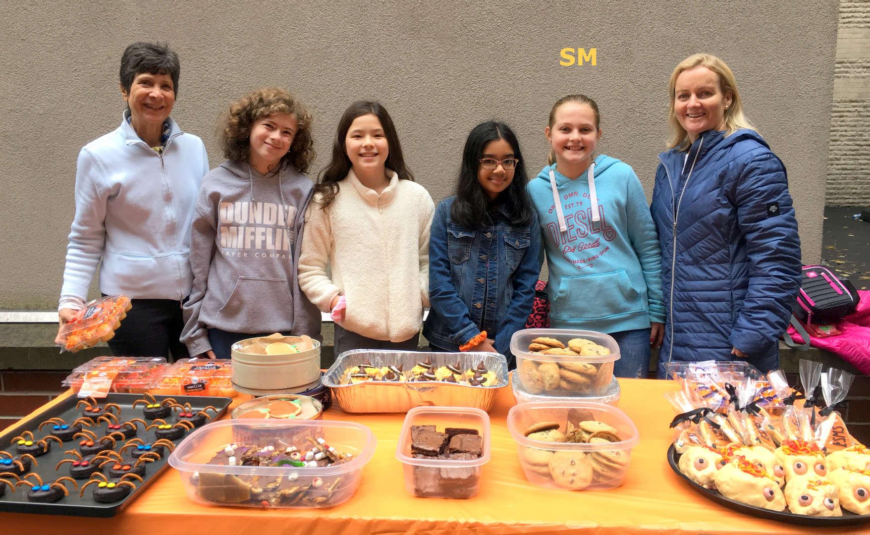 Photo of bake sale helpers