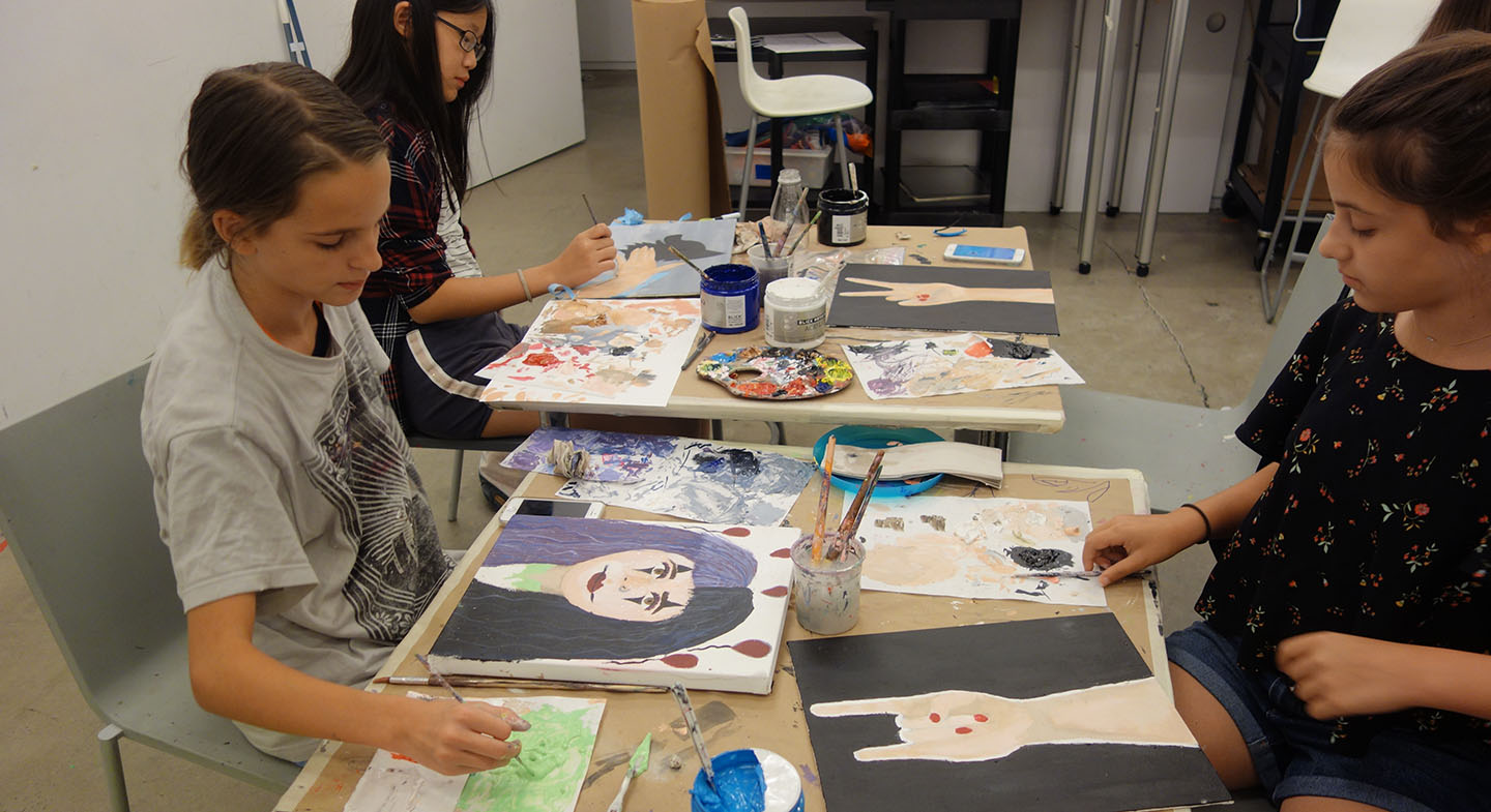 Photo - Students working on art at CMA