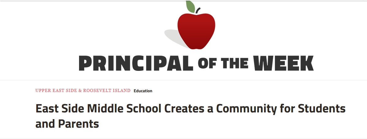 """Graphic that reads """"Principal of the Week"""" with a red apple above the words"""