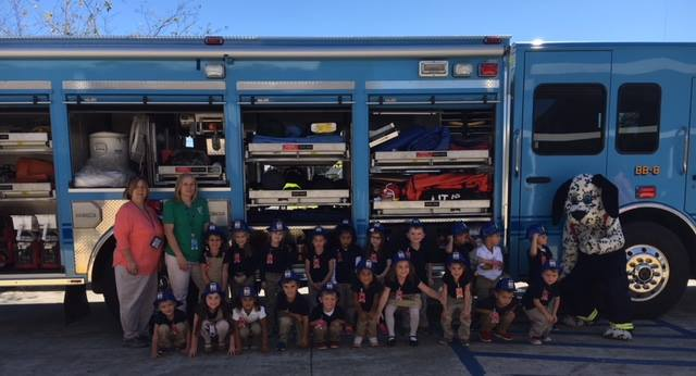 Bayou Blue Fire Dept. Visit