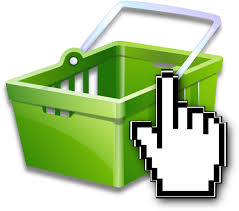 A pixelated hand hovering over a green basket