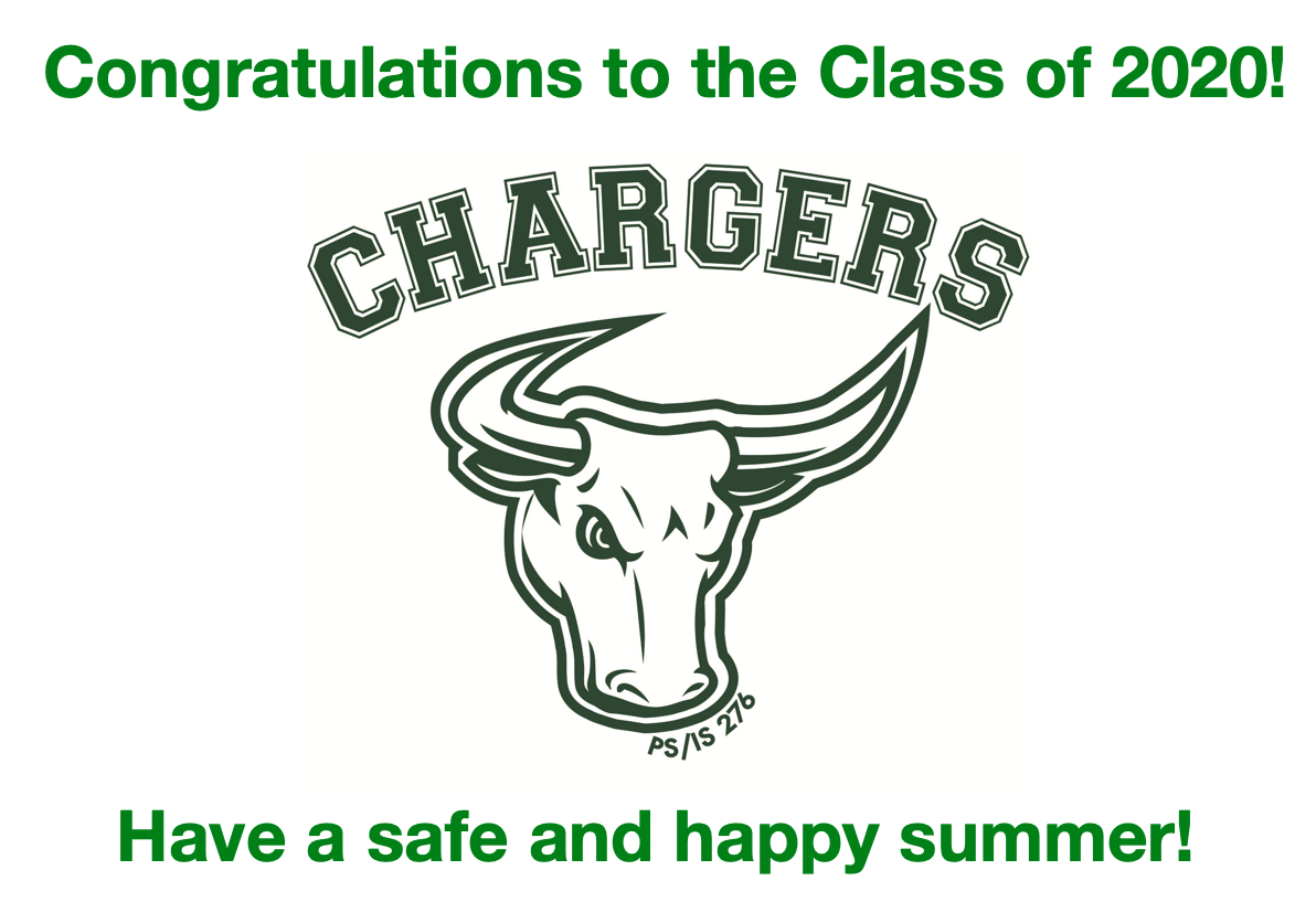 Congratulations Class of 2020 and Logo Chargers