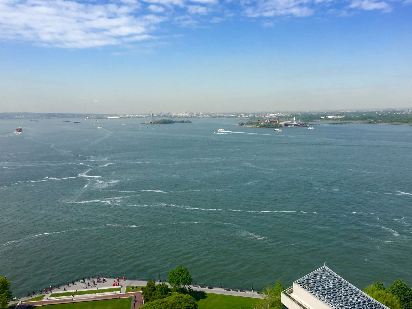 View of Status of Liberty and Ellis Island