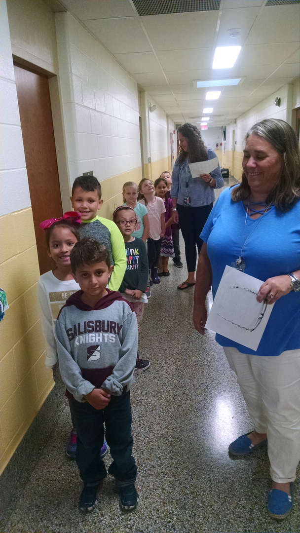 Students respecting each other and their teachers as good citizens when walking in the hallway!