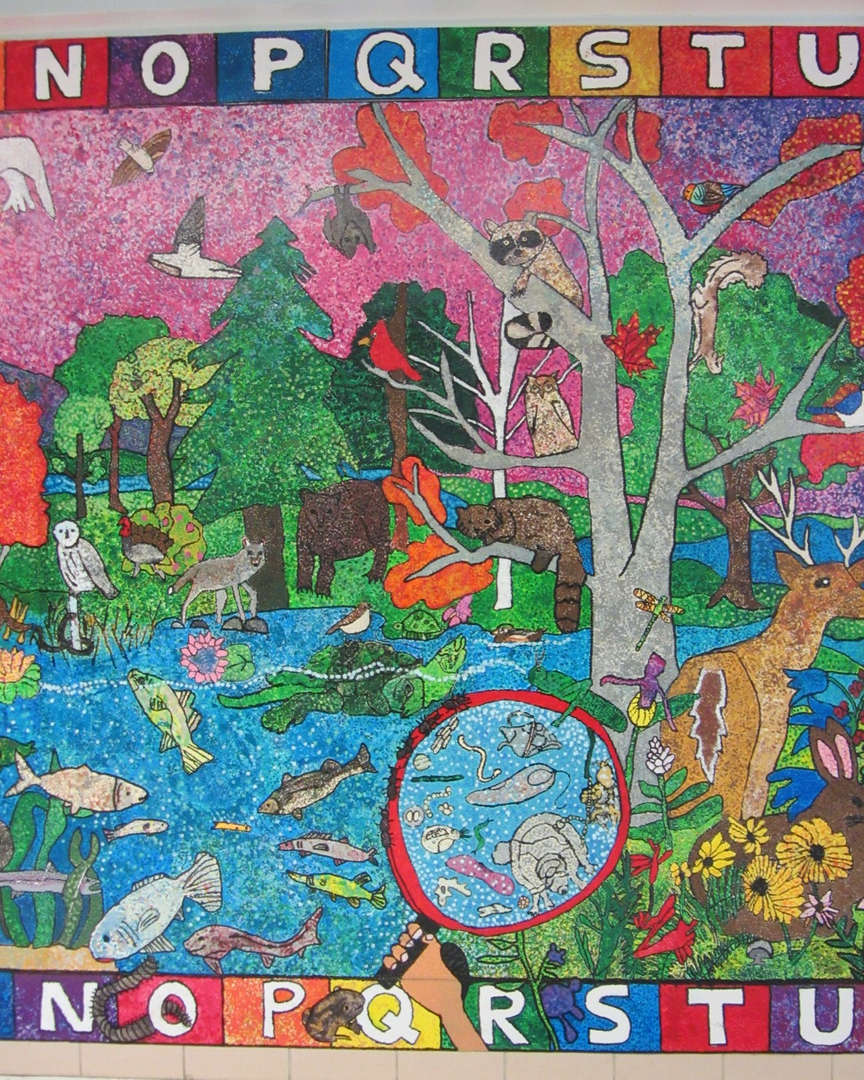 Picture of animal mural