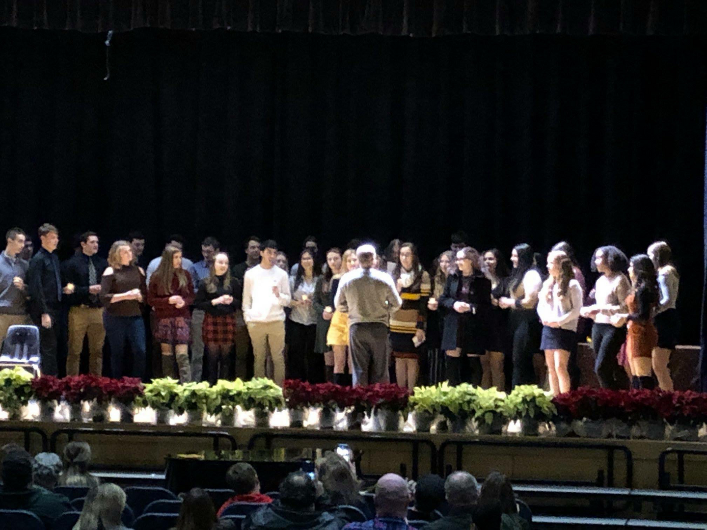 Italian national honor society induction ceremony