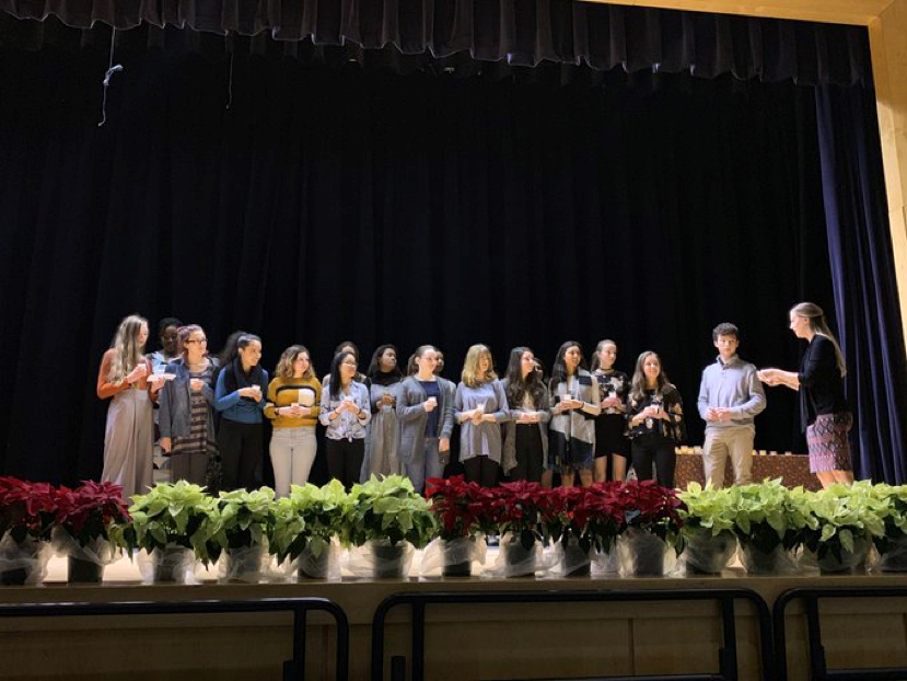 French national honor society induction ceremony