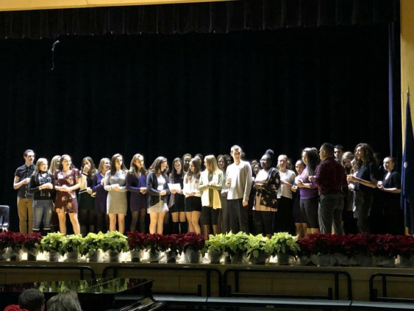 Spanish national honor society induction ceremony
