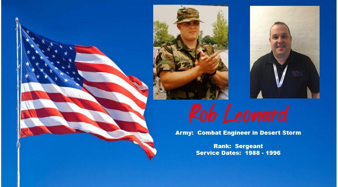Rob Leonard - Army Combat Engineer in Desert Storm - Rank - Sergeant from 1988 - 1996