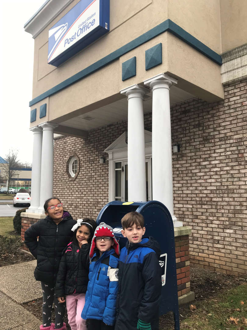 Mrs.Gabrielson's class visits the Post Office.