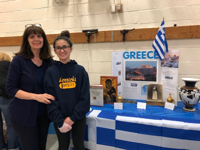Mother and daughter pose for Greece