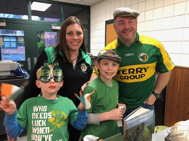 Family representing Ireland