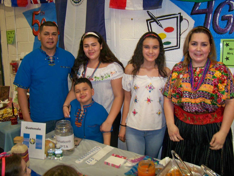 Family representing Guatemala