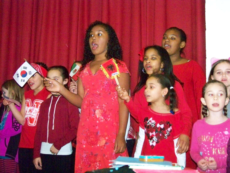 Student girls singing