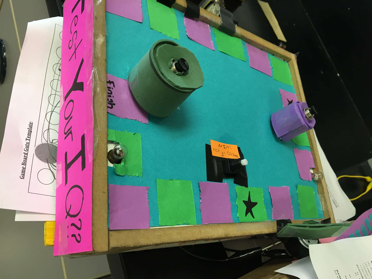 Electronic board games, created by students