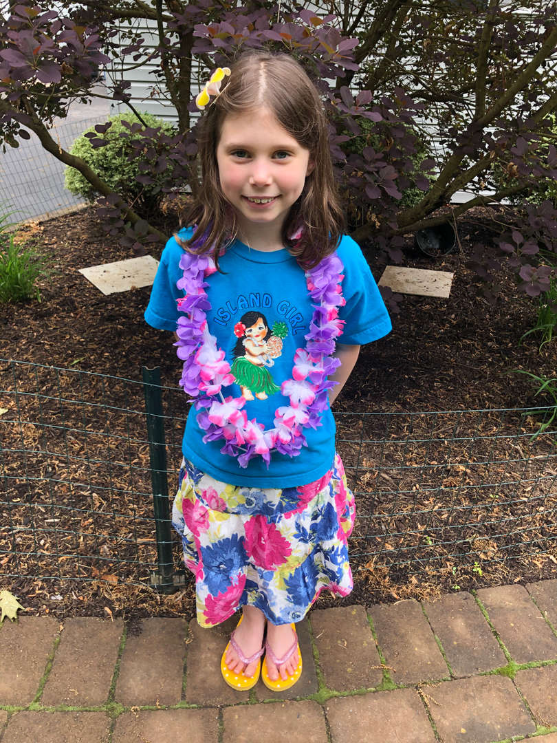 Hawaii Day, Ava O'Leary, Ms. Lally's Class