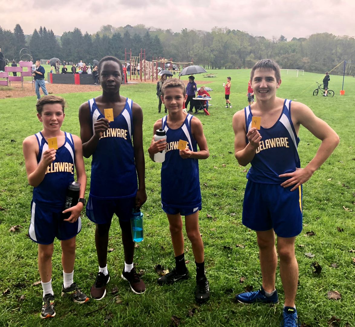 Runners Win Top 4 Places at Cross Country Match
