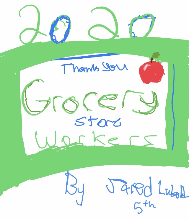 Thank you sign, Jared Lubold, Mrs. Blair's Class