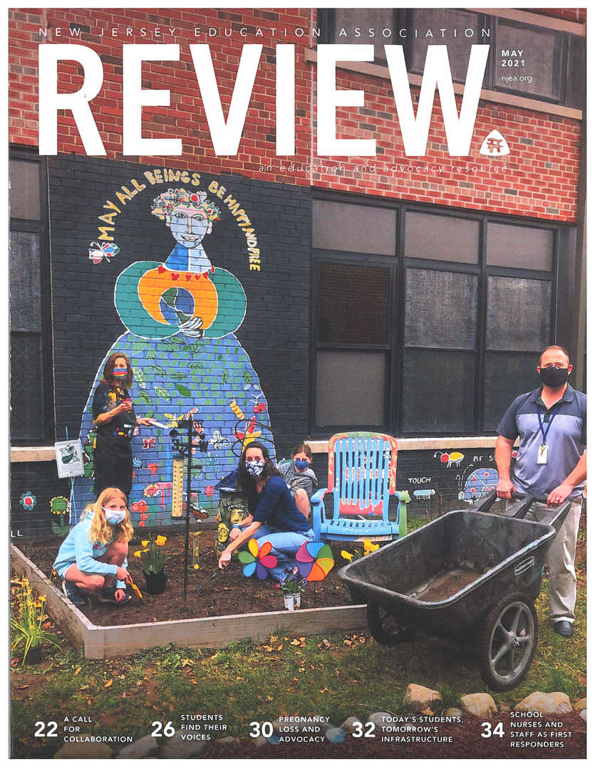 """DTS Cover May issue of NJEA Review, """"A Call for Collaboration"""""""