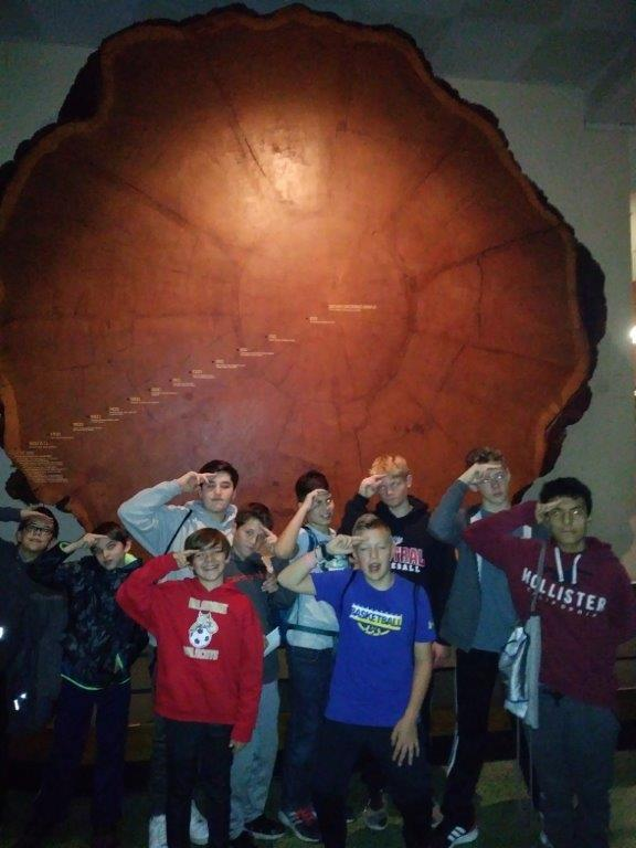 7th grade at the Natural History Museum