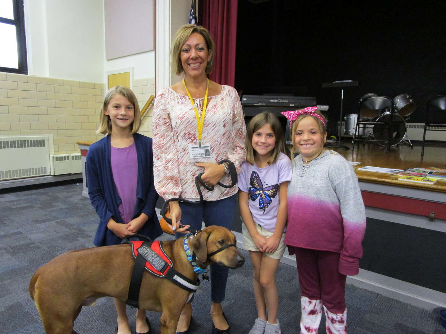 Merlin's Kids Service Dog Meets DTS Students