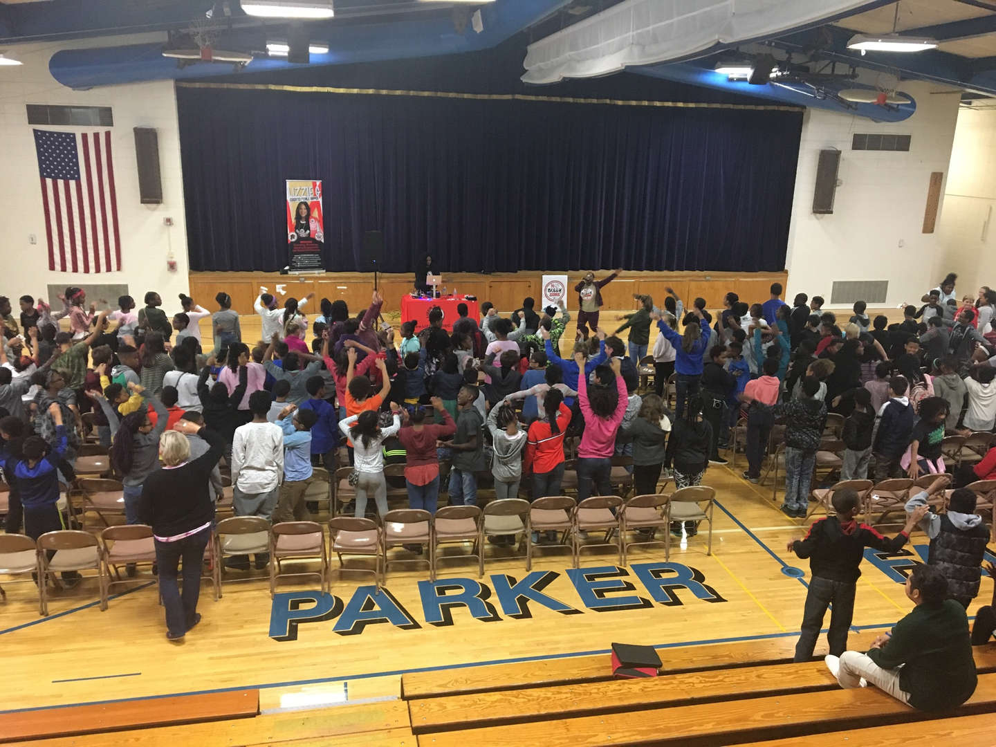 "Parker students were empowered to maintain a ""No Bully Zone"" by educated rapper 'Lizzie G' during assemblies held on October 15th in support of National Bullying Prevention Month."