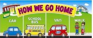 How we go home, by bus or van