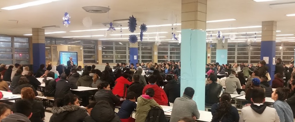 Parents and students attend Mr. Sosa's 5th Year Selection Process Meeting on Thursday, December 1, 2016