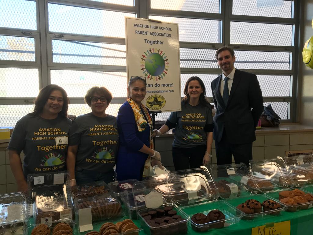 Our PA Executive Board at our first Bake Sale of 2019, joined by our Principal Mr. Steven R. Jackson