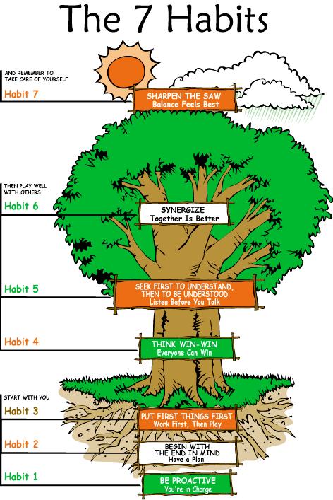The 7 habits tree of habits