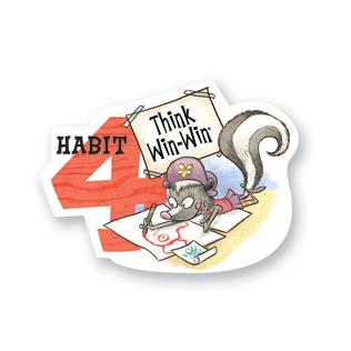 7 habits kid habit 4 poster
