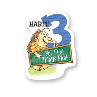 7 habits kid habit 3 poster