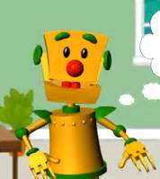 orange robot cartoon